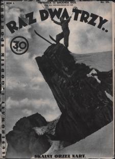 Raz, Dwa, Trzy : ilustrowany tygodnik sportowy. 1931, nr35