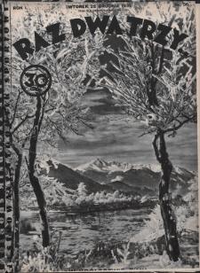 Raz, Dwa, Trzy : ilustrowany tygodnik sportowy. 1931, nr36