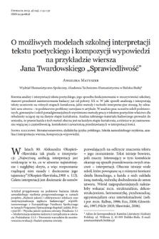 Jan twardowski poetry