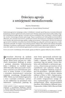 Children aggression and mentalization skills