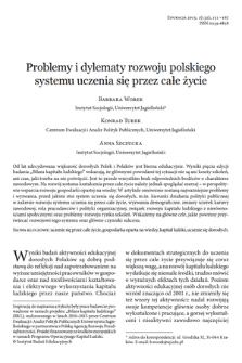 Problems and dilemmas in the development of the lifelong learning system in Poland