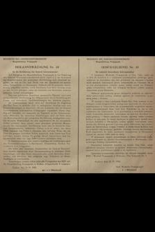 Bekanntmachung Nr. 35