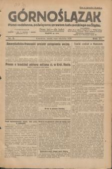 Górnoślązak : pismo codzienne, poświęcone sprawom ludu polskiego na Śląsku.R.27, nr 5 (6 stycznia 1928) + dod.