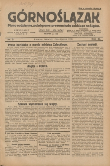 Górnoślązak : pismo codzienne, poświęcone sprawom ludu polskiego na Śląsku.R.27, nr 9 (12 stycznia 1928) + dod.