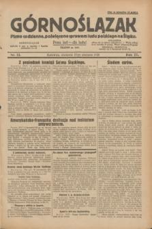 Górnoślązak : pismo codzienne, poświęcone sprawom ludu polskiego na Śląsku.R.27, nr 12 (15 stycznia 1928) + dod.
