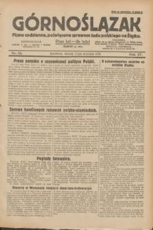 Górnoślązak : pismo codzienne, poświęcone sprawom ludu polskiego na Śląsku.R.27, nr 13 (17 stycznia 1928) + dod.