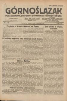 Górnoślązak : pismo codzienne, poświęcone sprawom ludu polskiego na Śląsku.R.27, nr 16 (20 stycznia 1928) + dod.