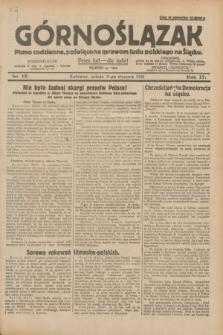 Górnoślązak : pismo codzienne, poświęcone sprawom ludu polskiego na Śląsku.R.27, nr 17 (21 stycznia 1928) + dod.