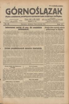 Górnoślązak : pismo codzienne, poświęcone sprawom ludu polskiego na Śląsku.R.27, nr 18 (22 stycznia 1928) + dod.