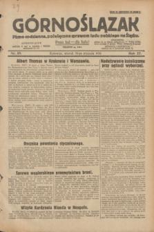 Górnoślązak : pismo codzienne, poświęcone sprawom ludu polskiego na Śląsku.R.27, nr 19 (24 stycznia 1928) + dod.