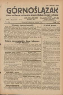 Górnoślązak : pismo codzienne, poświęcone sprawom ludu polskiego na Śląsku.R.27, nr 20 (25 stycznia 1928) + dod.