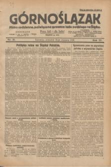 Górnoślązak : pismo codzienne, poświęcone sprawom ludu polskiego na Śląsku.R.27, nr 21 (26 stycznia 1928) + dod.