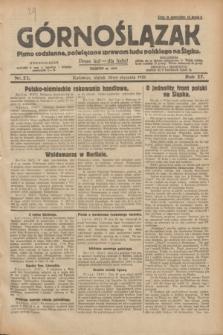 Górnoślązak : pismo codzienne, poświęcone sprawom ludu polskiego na Śląsku.R.27, nr 22 (26 stycznia 1928) + [dod.]