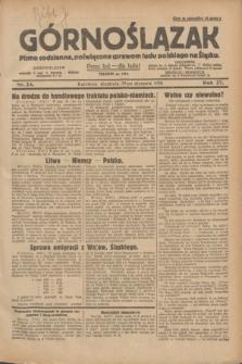 Górnoślązak : pismo codzienne, poświęcone sprawom ludu polskiego na Śląsku.R.27, nr 24 (29 stycznia 1928) + [dod.]