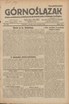 Górnoślązak : pismo codzienne, poświęcone sprawom ludu polskiego na Śląsku.R.27, nr 25 (31 stycznia 1928) + dod.