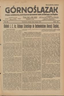 Górnoślązak : pismo codzienne, poświęcone sprawom ludu polskiego na Śląsku.R.27, nr 31 (8 lutego 1928) + [dod.]