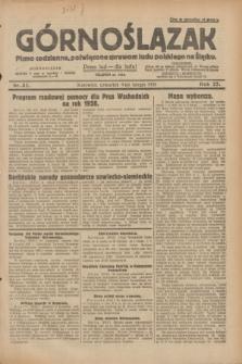 Górnoślązak : pismo codzienne, poświęcone sprawom ludu polskiego na Śląsku.R.27, nr 32 (9 lutego 1928) + dod.