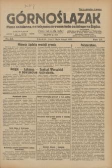 Górnoślązak : pismo codzienne, poświęcone sprawom ludu polskiego na Śląsku.R.27, nr 33 (10 lutego 1928) + dod.