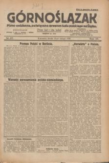 Górnoślązak : pismo codzienne, poświęcone sprawom ludu polskiego na Śląsku.R.27, nr 37 (15 lutego 1928) + dod.