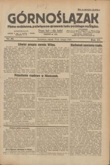 Górnoślązak : pismo codzienne, poświęcone sprawom ludu polskiego na Śląsku.R.27, nr 39 (17 lutego 1928) + dod.