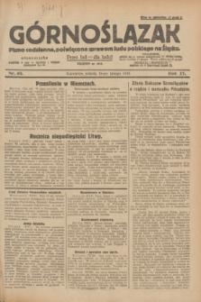 Górnoślązak : pismo codzienne, poświęcone sprawom ludu polskiego na Śląsku.R.27, nr 40 (18 lutego 1928) + dod.