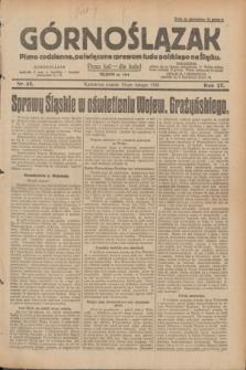 Górnoślązak : pismo codzienne, poświęcone sprawom ludu polskiego na Śląsku.R.27, nr 45 (24 lutego 1928) + dod.
