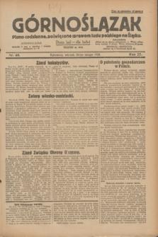 Górnoślązak : pismo codzienne, poświęcone sprawom ludu polskiego na Śląsku.R.27, nr 48 (28 lutego 1928) + dod.