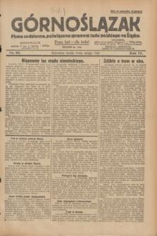 Górnoślązak : pismo codzienne, poświęcone sprawom ludu polskiego na Śląsku.R.27, nr 49 (29 lutego 1928) + dod.