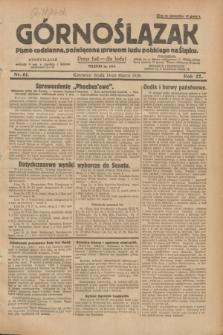 Górnoślązak : pismo codzienne, poświęcone sprawom ludu polskiego na Śląsku.R.27, nr 61 (14 marca 1928) + dod.