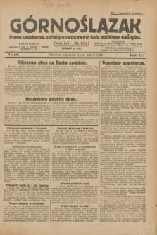 Górnoślązak : pismo codzienne, poświęcone sprawom ludu polskiego na Śląsku.R.27, nr 68 (22 marca 1928) + dod.