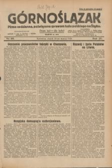 Górnoślązak : pismo codzienne, poświęcone sprawom ludu polskiego na Śląsku.R.27, nr 69 (23 marca 1928) + dod.