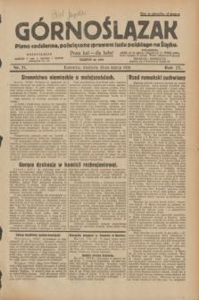 Górnoślązak : pismo codzienne, poświęcone sprawom ludu polskiego na Śląsku.R.27, nr 71 (25 marca 1928) + dod.