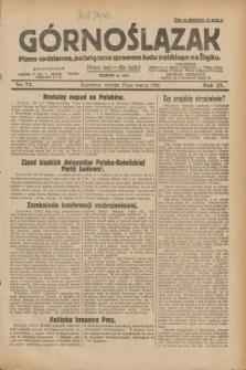 Górnoślązak : pismo codzienne, poświęcone sprawom ludu polskiego na Śląsku.R.27, nr 72 (27 marca 1928) + dod.
