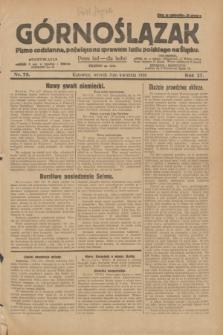 Górnoślązak : pismo codzienne, poświęcone sprawom ludu polskiego na Śląsku.R.27, nr 78 (3 kwietnia 1928) + dod.