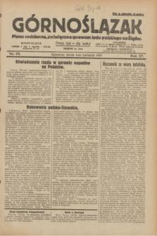 Górnoślązak : pismo codzienne, poświęcone sprawom ludu polskiego na Śląsku.R.27, nr 79 (4 kwietnia 1928) + dod.