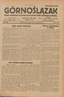 Górnoślązak : pismo codzienne, poświęcone sprawom ludu polskiego na Śląsku.R.27, nr 80 (5 kwietnia 1928) + dod.