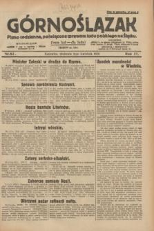 Górnoślązak : pismo codzienne, poświęcone sprawom ludu polskiego na Śląsku.R.27, nr 83 (8 kwietnia 1928) + dod.