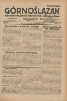 Górnoślązak : pismo codzienne, poświęcone sprawom ludu polskiego na Śląsku.R.27, nr 85 (12 kwietnia 1928) + dod.