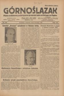 Górnoślązak : pismo codzienne, poświęcone sprawom ludu polskiego na Śląsku.R.27, nr 88 (15 kwietnia 1928) + dod.
