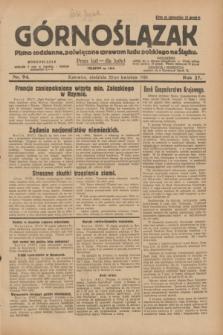 Górnoślązak : pismo codzienne, poświęcone sprawom ludu polskiego na Śląsku.R.27, nr 94 (22 kwietnia 1928) + dod.