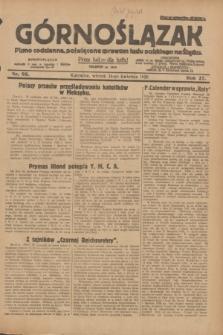 Górnoślązak : pismo codzienne, poświęcone sprawom ludu polskiego na Śląsku.R.27, nr 95 (24 kwietnia 1928) + dod.