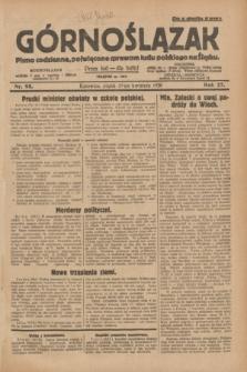 Górnoślązak : pismo codzienne, poświęcone sprawom ludu polskiego na Śląsku.R.27, nr 98 (27 kwietnia 1928) + dod.