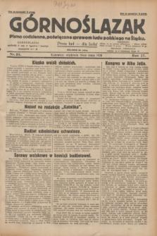 Górnoślązak : pismo codzienne, poświęcone sprawom ludu polskiego na Śląsku.R.27, nr 111 (13 maja 1928) + dod.