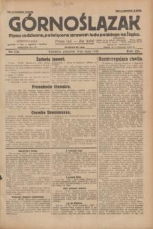 Górnoślązak : pismo codzienne, poświęcone sprawom ludu polskiego na Śląsku.R.27, nr 114 (17 maja 1928) + dod.