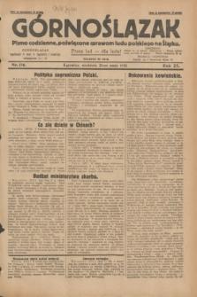 Górnoślązak : pismo codzienne, poświęcone sprawom ludu polskiego na Śląsku.R.27, nr 116 (20 maja 1928) + dod.