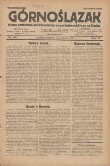 Górnoślązak : pismo codzienne, poświęcone sprawom ludu polskiego na Śląsku.R.27, nr 130 (7 czerwca 1928) + dod.