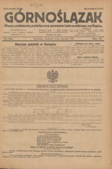 Górnoślązak : pismo codzienne, poświęcone sprawom ludu polskiego na Śląsku.R.27, nr 144 (24 czerwca 1928) + dod.
