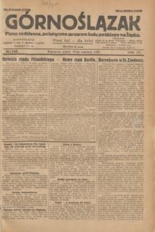 Górnoślązak : pismo codzienne, poświęcone sprawom ludu polskiego na Śląsku.R.27, nr 148 (29 czerwca 1928) + dod.