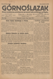 Górnoślązak : pismo codzienne, poświęcone sprawom ludu polskiego na Śląsku.R.27, nr 156 (10 lipca 1928) + dod.
