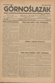 Górnoślązak : pismo codzienne, poświęcone sprawom ludu polskiego na Śląsku.R.27, nr 159 (13 lipca 1928)